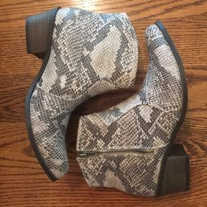 Coconuts by Matisse Firefly Faux Snakeskin Boots